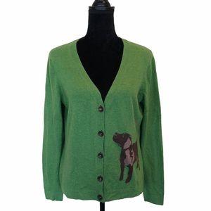 Boden button front cashmere cotton blend cardigan